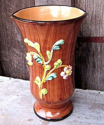 Vintage Handpainted Mid Century Italy Pottery Vase Home & Garden Planter Pot