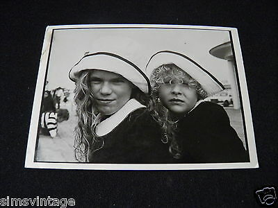 Unusual Weird Postcard France Deauville 1985 two girls