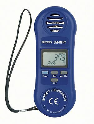 REED LM-81HT Pocket-Sized Thermo-Hygrometer w/ Large Dual Digital Display