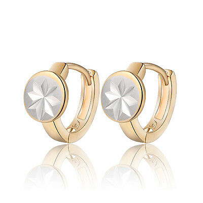 18 k Gold Plated Jewellery Small Baby Girls Star Hoops First Earrings E967