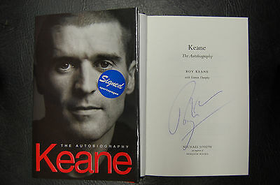 Roy Keane  Manchester United Signed Book 'keane The Autobiography' Hardback