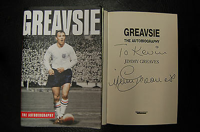 Jimmy Greaves Spurs  Signed Book 'greavsie  The Autobiography' Hardback