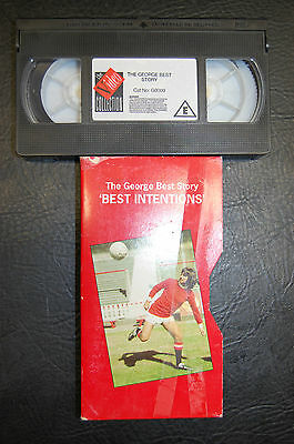 George Best Manchester United 1988 'best Intentions' Video - Original Rare