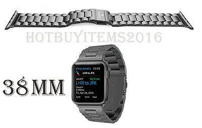 iVAPO Solid Stainless Steel Strap for Apple iWatch Band Replacement S.Gray 38mm