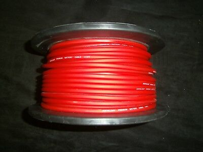 10 Gauge Awg Wire 50 Ft Red Cable Power Ground Stranded Primary Fast Shipping