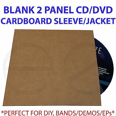 Cardboard CD/DVD 2 panel Jacket/Sleeve *Great for Bands,Demos,EP,DIY* 50 pack