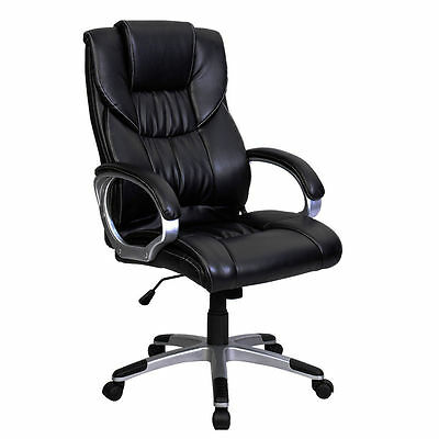 FDS High Back Leather Executive Swivel Computer Desk Armchair Office Chair