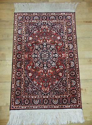 Pretty West Persian Silk Piled Rug
