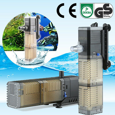 Internal Filter Pump 3 in 1 Submersible Fish Tank Aquarium Oxygen Pump