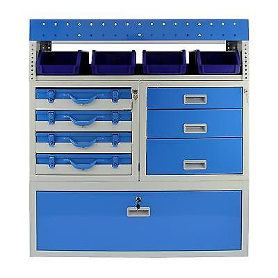 Van Racking Metal Shelving Steel Rack Tool Storage System Lockable Drawers Unit