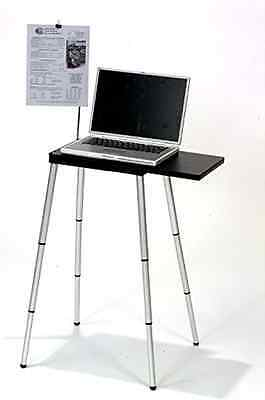 Portable Compact Lightweight Adjustable Height Laptop Computer Desk Stand Table