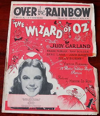 Judy Garland Over The Rainbow Sheet Music The Wizard Of Oz (1939) + Accordion