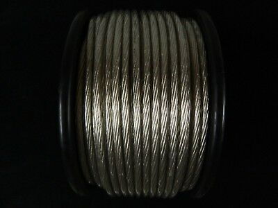 8 Gauge Wire 100 Ft Awg Cable Silver 12 Volt Amp Primary Stranded Power Ground