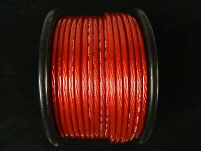8 Gauge Wire 30 Ft Awg Cable Red 12 Volt Amp Primary Stranded Power Ground