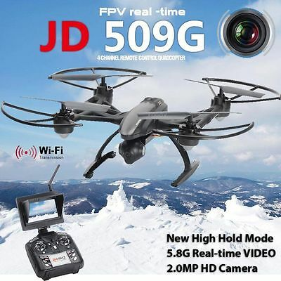 Pioneer UFO Drone JXD 509G 5.8G 2.0MP Camera RC Quadcopter  -  BLACK