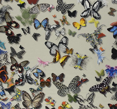 Designers Guild/christian Lacroix Cotton  Fabric  Butterfly Parade