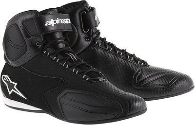 ALPINESTARS FASTER Vented Road Racing Street Motorcycle Shoes (Black) US 10.5