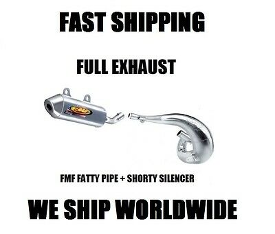 Fmf Fatty Pipe + Shorty Silencer Full Exhaust 11-16 Ktm 250 300 Sx Exc Xc All