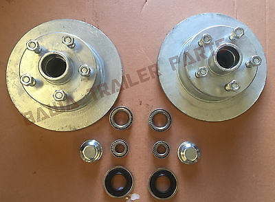 GALVANISED 5 STUD HOLDEN HT DISCS WITH FORD or SL BEARING KITS TRAILER HUBS