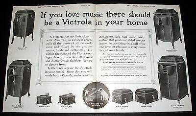 1914 Old Magazine Print Ad, Victor Victrola, If You Love Music In Your Home!