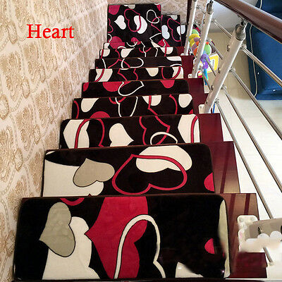 Non Slip Carpet Stair Treads Set 13pcs Skid Resistant Rubber Rug Pad Home Hotels