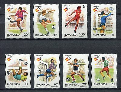 s5838) RWANDA 1982 MNH** World Cup Football'82 - Coppa del Mondo Calcio 8v.