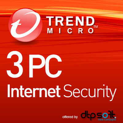 Trend Micro Internet Security 2019 3 PC 1 Year License MD 3 user 2018 UK