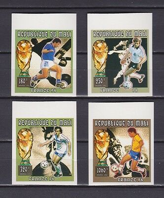s7245) MALI' 1996 MNH** WC Football'98- CM Calcio 4v IMPERF