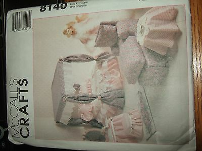 vintage mccalls pattern 8140 uncut 1995 barbie doll furniture couch bed chair +