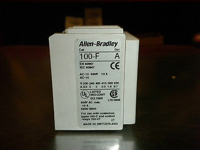 Allen Bradley 100-F Series A Auxiliary Contact Block 690V 10A LOT OF 3