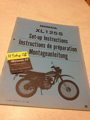 Honda XL125S XL125 S XLS 125 instruction preparation setup manuel set-up