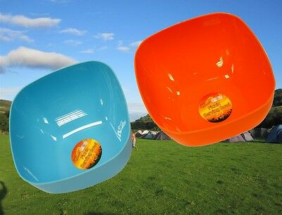 2 x 25CM PLASTIC PICNIC BBQ CAMPING SERVING FOOD SOUP CEREAL SALAD BOWL RY687