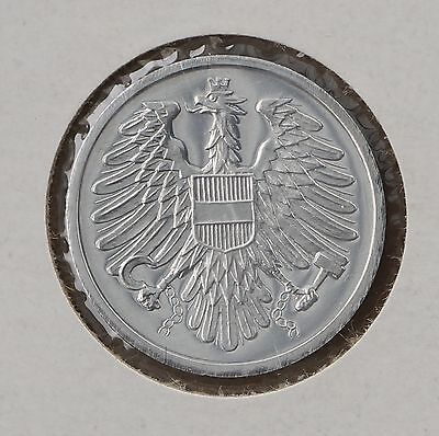 1973 Austria 2 Groschen KM# 2876  GEM Aluminum Proof Coin