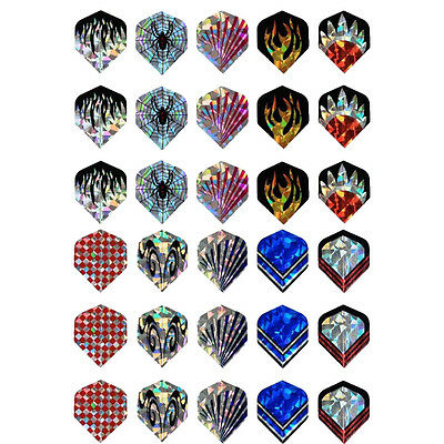 Professional 10 sets 2D Bling Dart Nice Laser Reflective Darts Tail Flight
