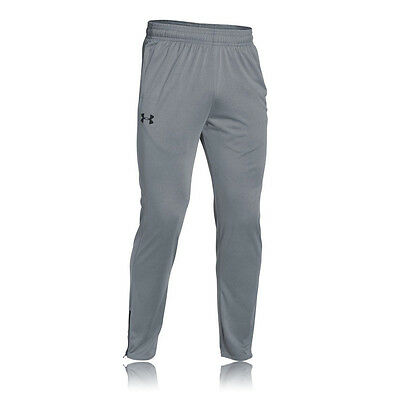 Under Armour Tech Mens Grey Wicking Tracksuit Gym Long Sports Pants Bottoms