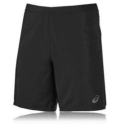 Asics 9 Inch 2-In-1 Mens Black Compression Running Shorts Pants Bottoms