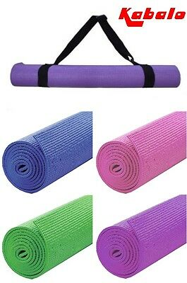 Extra Long Yoga Mat 183cm x 61cm Fitness Camping Exercise Pilates with Strap Bag