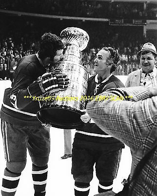 HENRI RICHARD & LARRY ROBINSON Celebrate 1973 STANLEY CUP 8x10 Photo CANADIENS