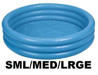 Intex Inflatable Blue 3 Ring Paddling Swimming Kids Pool Childrens Garden Play