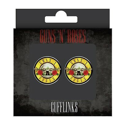 *NEW* Retro GUNS n' ROSES Logo Metal Cufflinks Music Rock Band