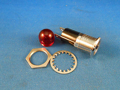 95-0463-0931-311 Dialight Red Stovepipe Light Ind. 75W/125V Two Solder Lug Nos
