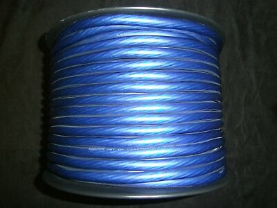 4 Gauge Wire 100 Ft Awg Cable Blue Super Flexible Primary Stranded Power Ground