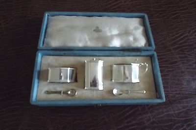Sterling Silver 3 Piece Cruet / Condiment Set for Asprey of London (retailer)