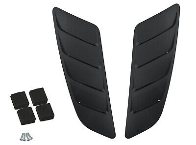 2015-2017 Ford Mustang GT 5.0 Roush 421869 Hood Vent Heat Extractors Black Pair
