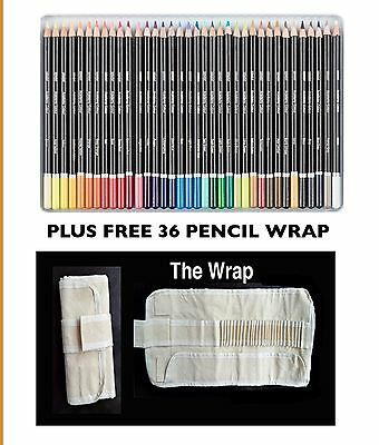 Original 36 Colour Derwent Pencils Derwent Academy Colouring Pencils + Free Wrap