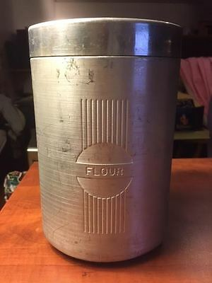 Flour Canister Tin Storage Retro