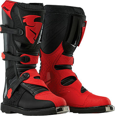 THOR MX Motocross Offroad BLITZ CE Boots (Black/Red) US 12