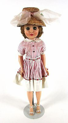 """Vintage RARE 1950's American Character """" PREMIER PINK DRESS w/ HEARTS"""" Toni Doll"""