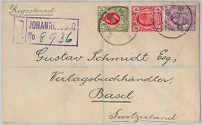 Orange River Colony +  Transvaal + Cape of Good Hope - COVER to SWITZERLAND 1911