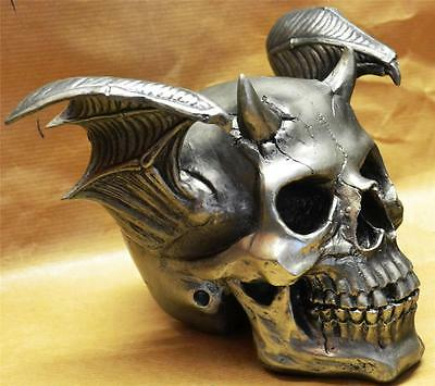 Nemesis Now Gothic BATS WING DEVILS HORN SKULL Spawn of Hell Bat Pagan Wiccan